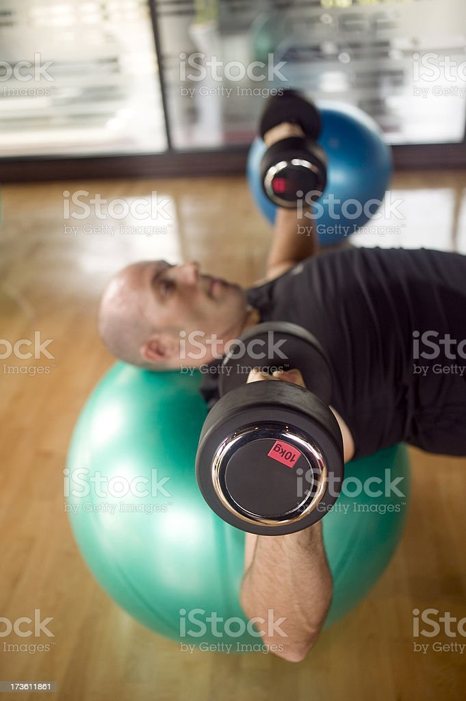 health club one person weights royalty-free stock photo