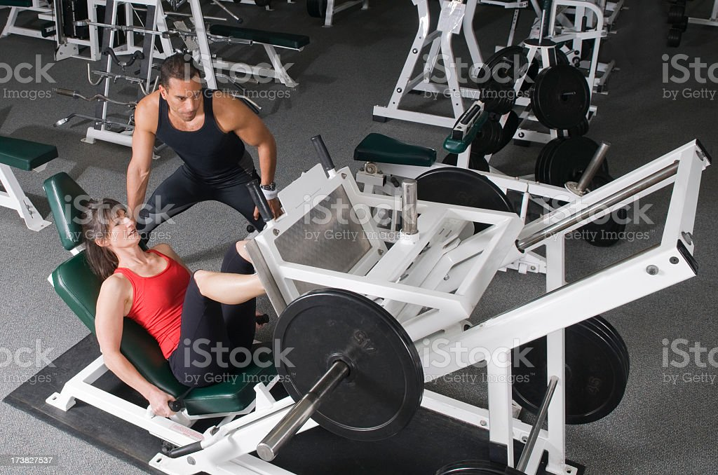 Health Club Workout - Leg Press royalty-free stock photo