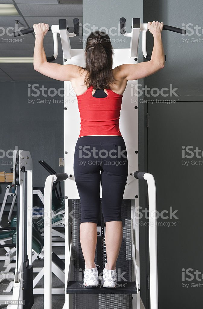 Health Club Workout - Pull ups royalty-free stock photo
