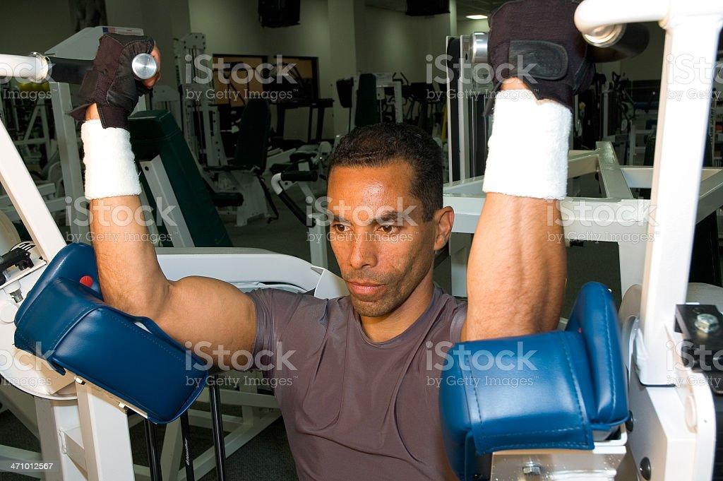 Serie Health club allenamento con i pesi foto stock royalty-free