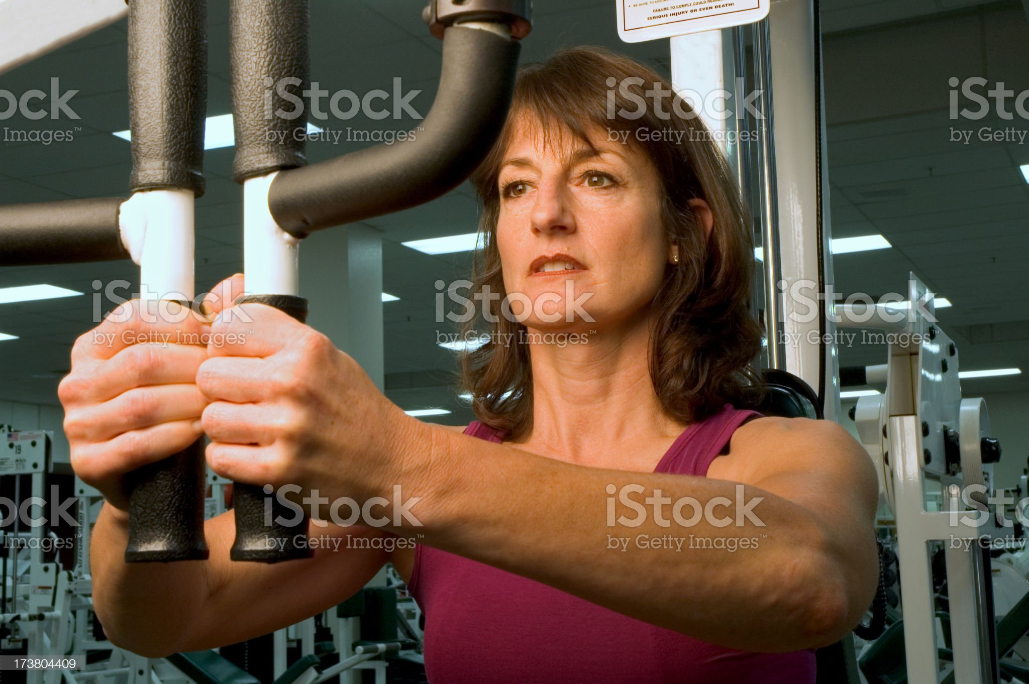 Health club workout series - flys royalty-free stock photo