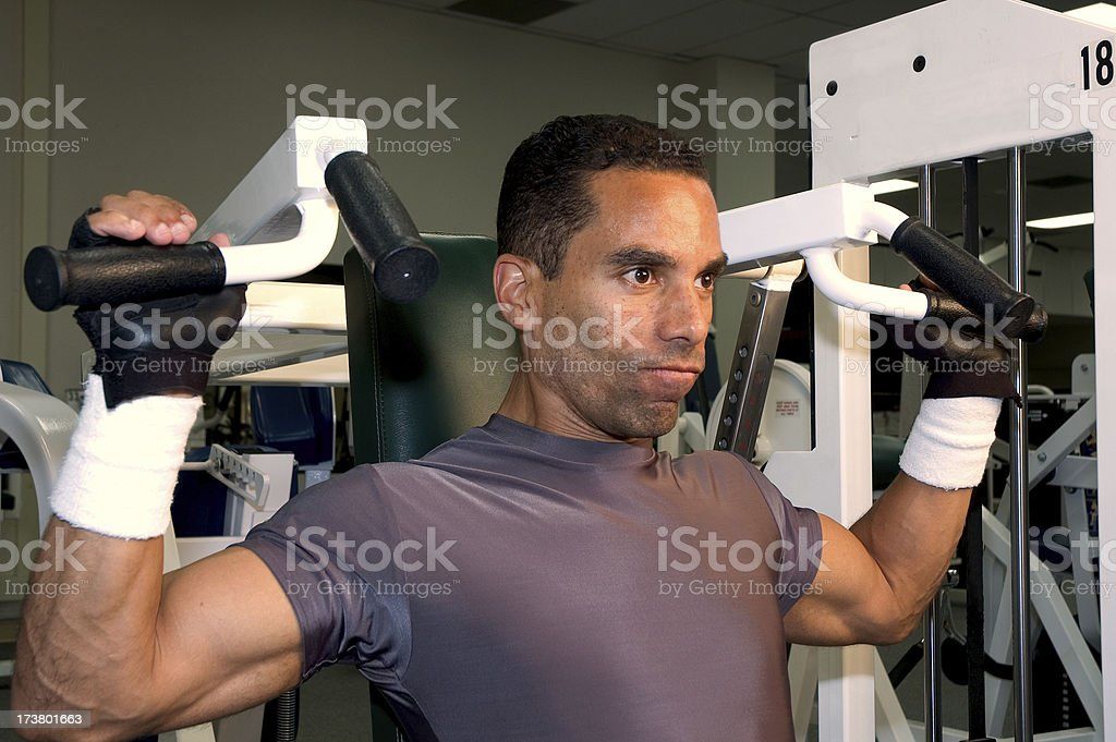 Health club allenamento serie-spalle foto stock royalty-free