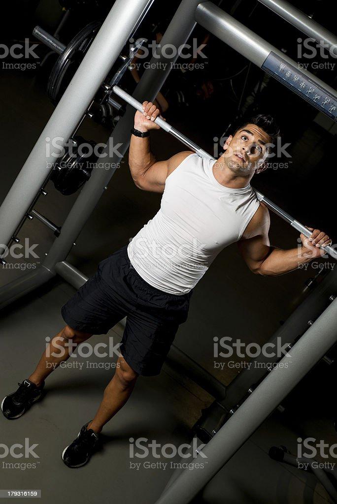 Health Club Workout Squat Rack royalty-free stock photo