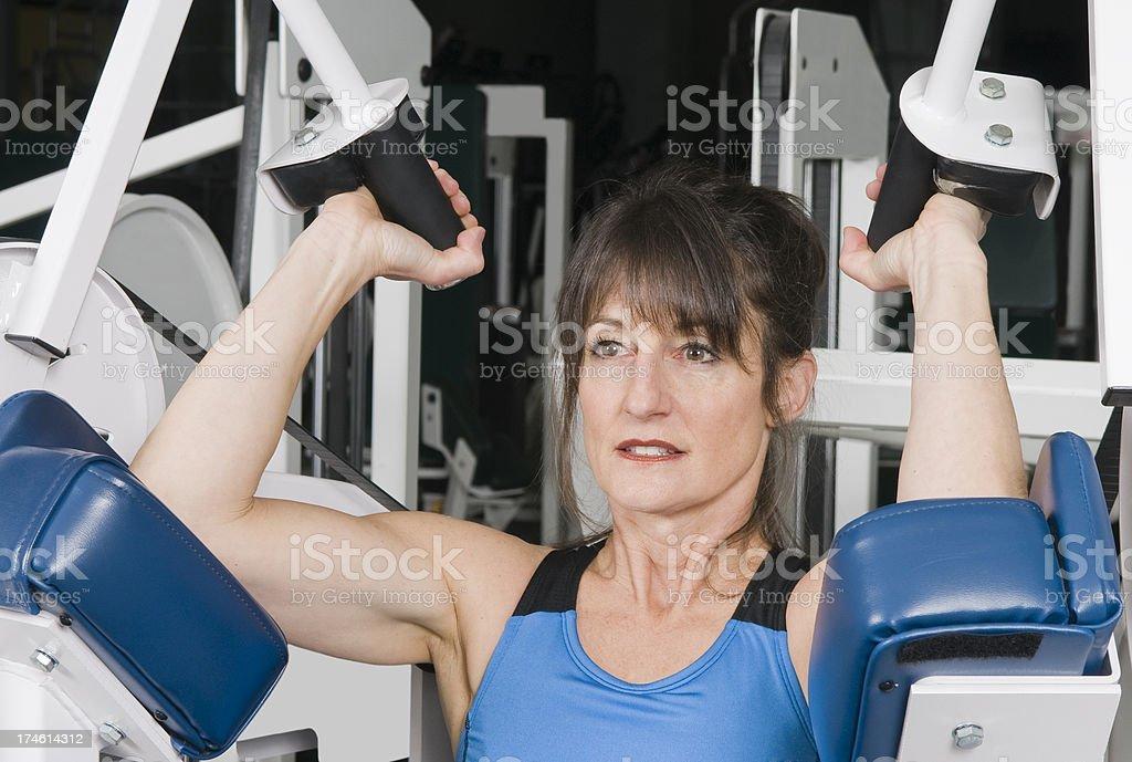 Health Club Workout - Triceps Machine royalty-free stock photo