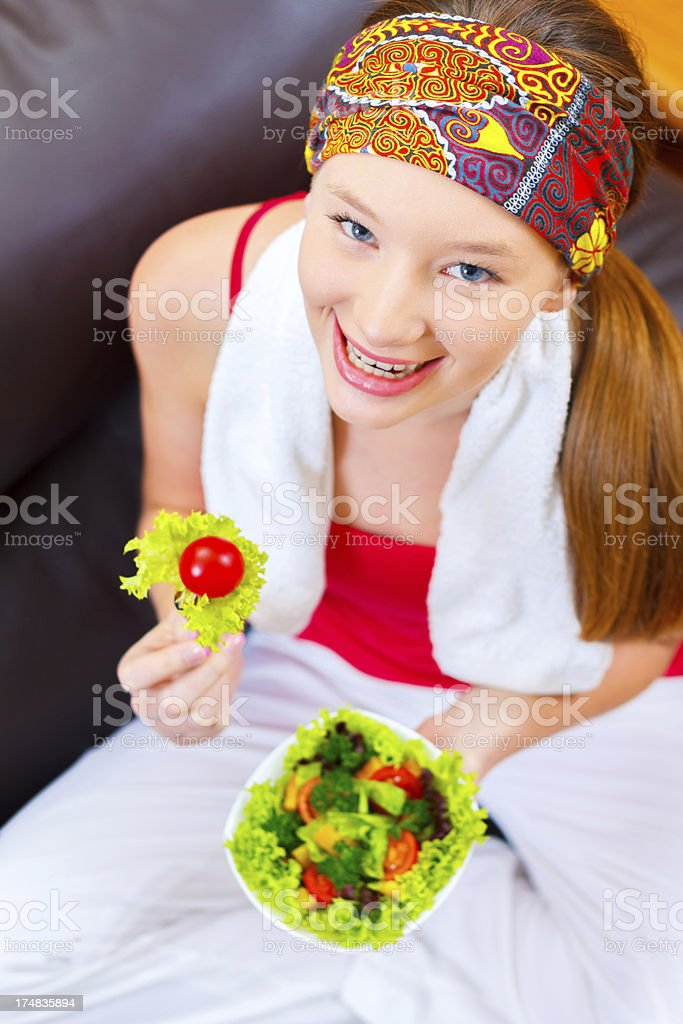 Health conscious teenage girl royalty-free stock photo