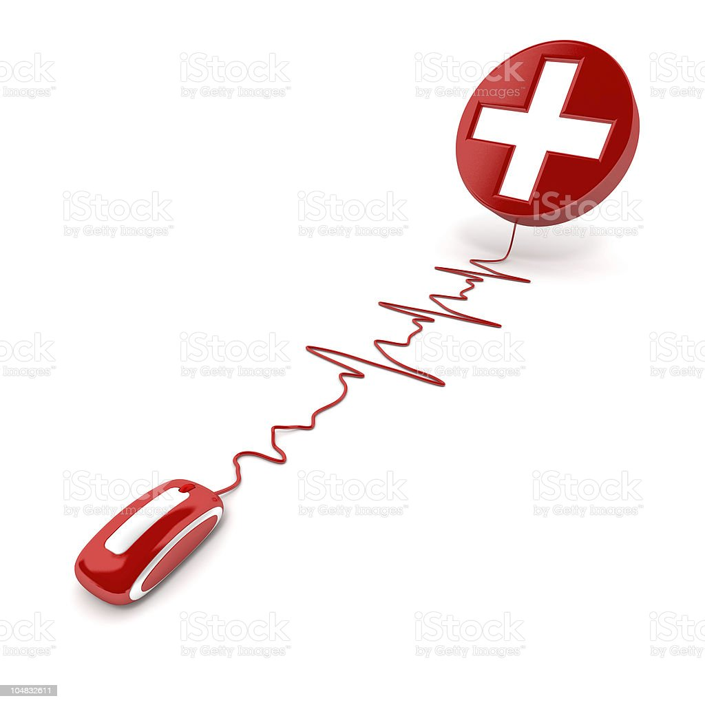 Health cross online royalty-free stock photo