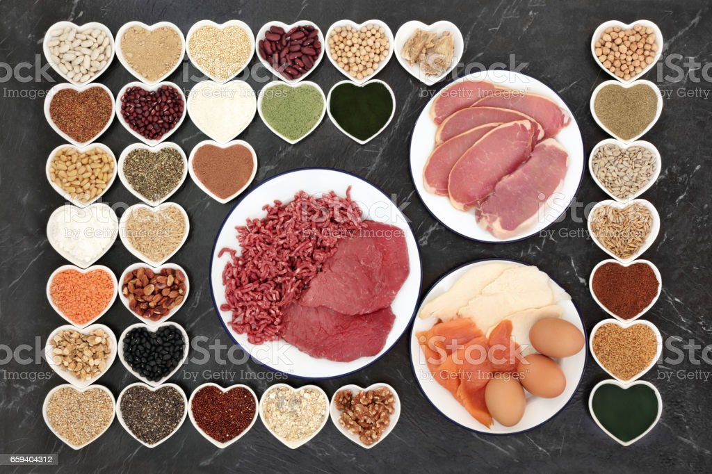 Health Food for Body Builders stock photo