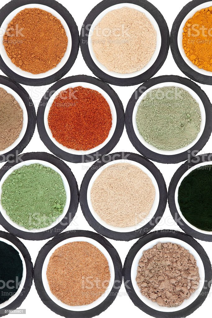Health Food Powder Selection stock photo