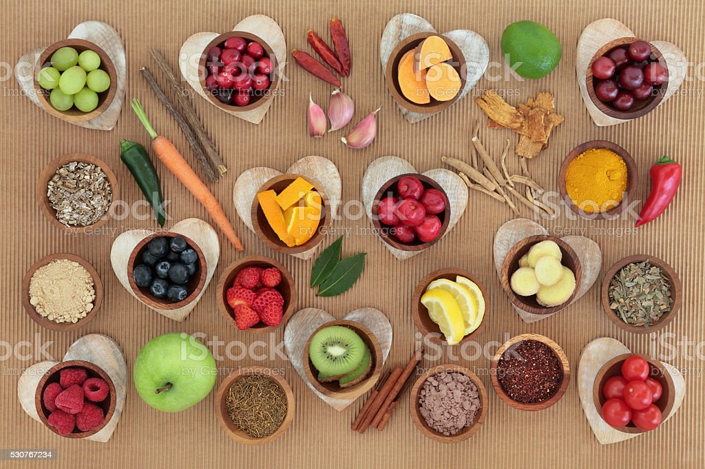 Health Food to Boost Immune System stock photo