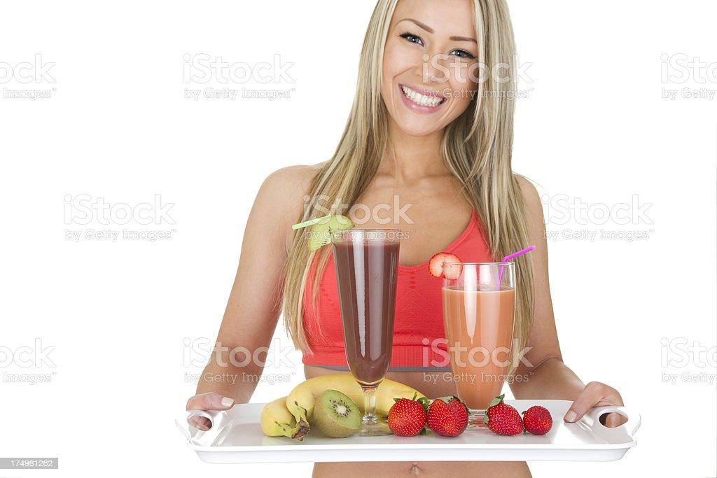 health food waitress royalty-free stock photo