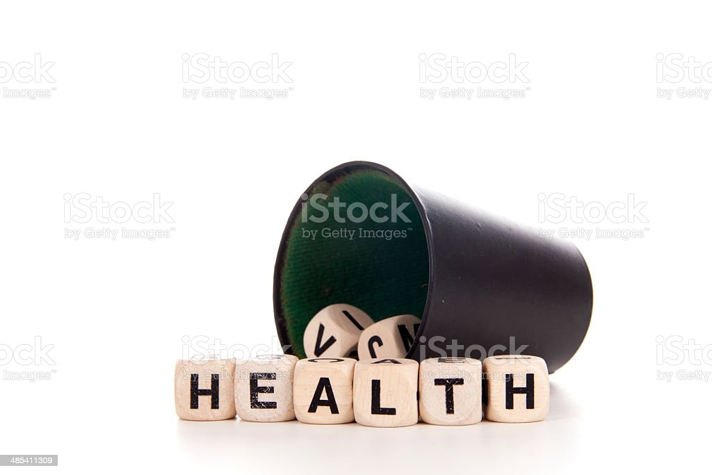 health in dices royalty-free stock photo