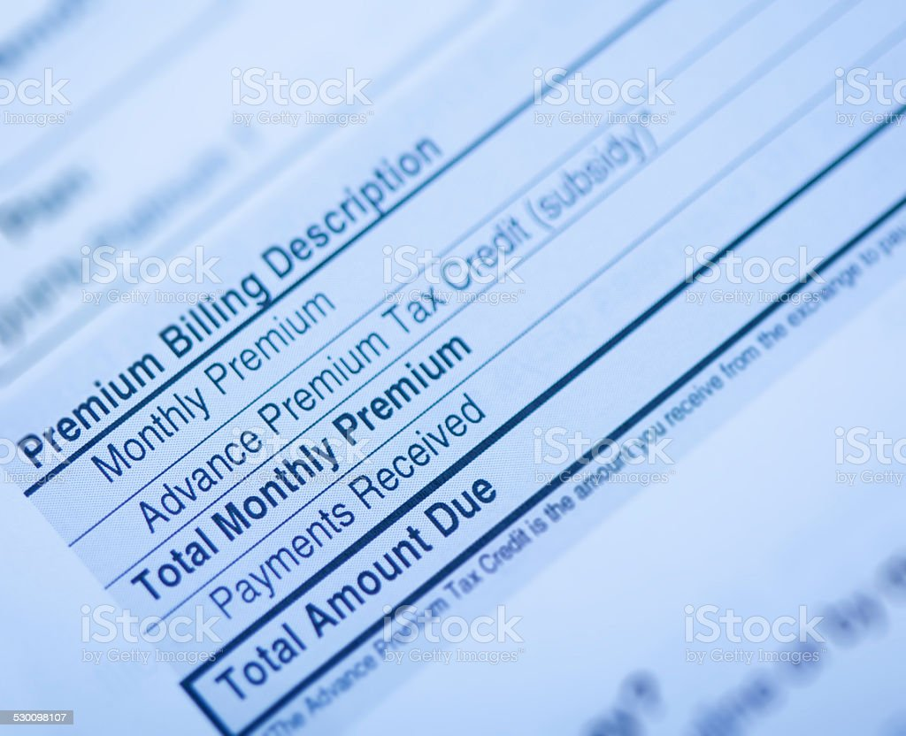 Health Insurance Bill stock photo