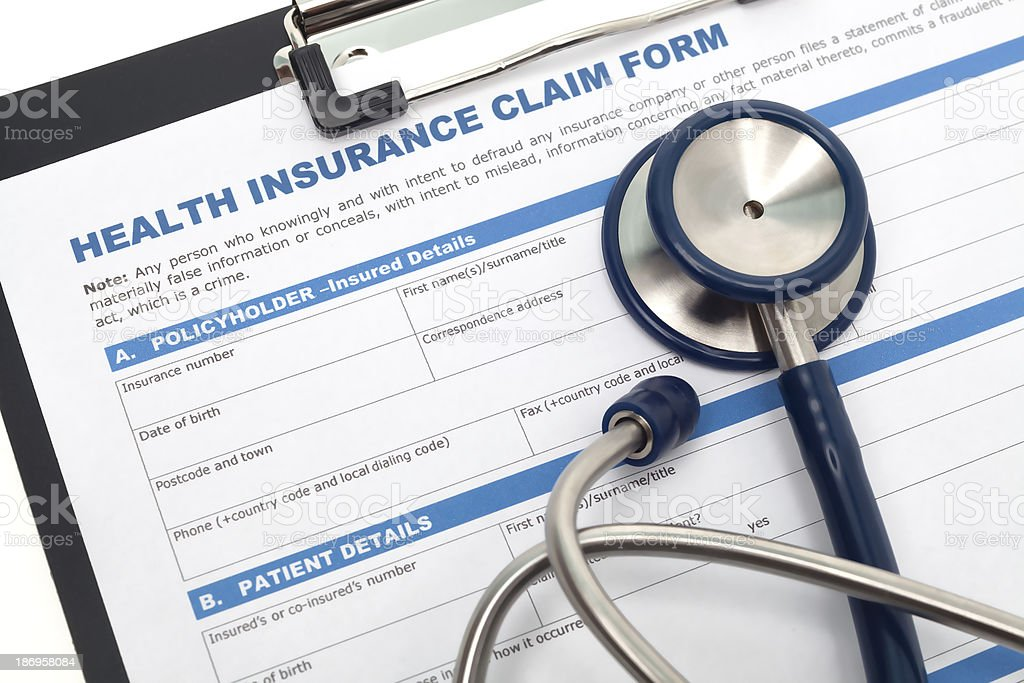Health insurance business stock photo
