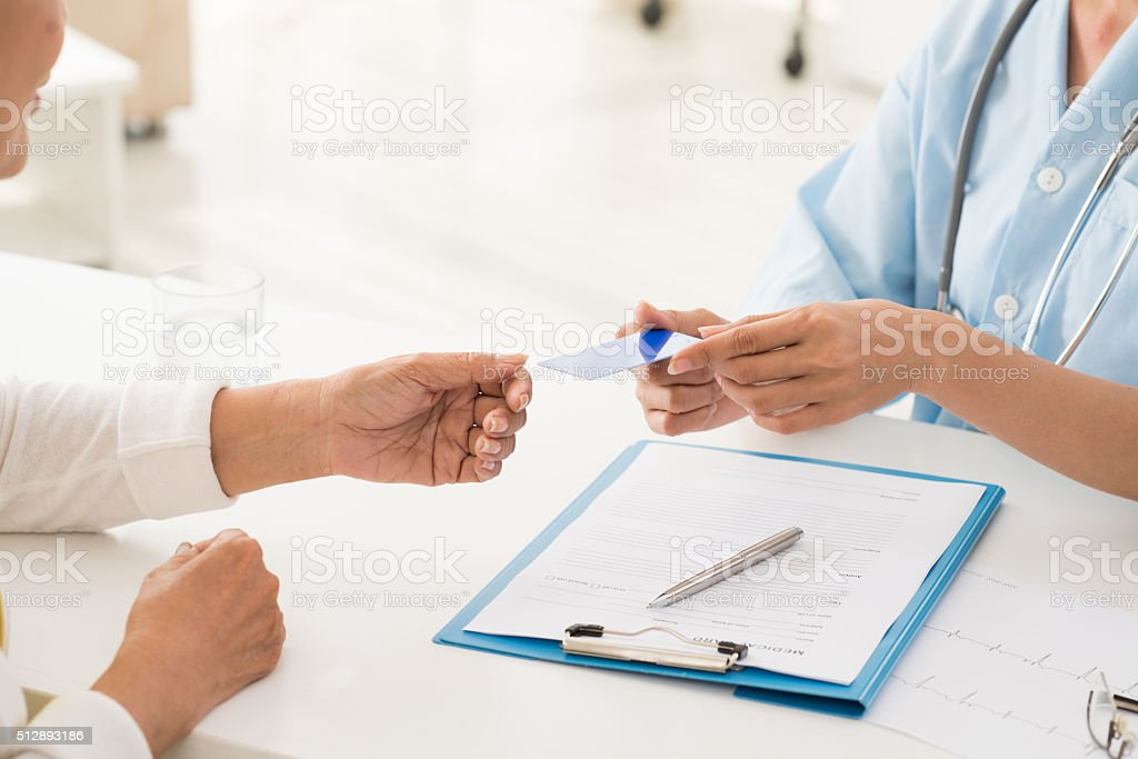 Health insurance card stock photo