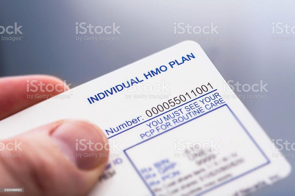 Health Insurance Card stock photo