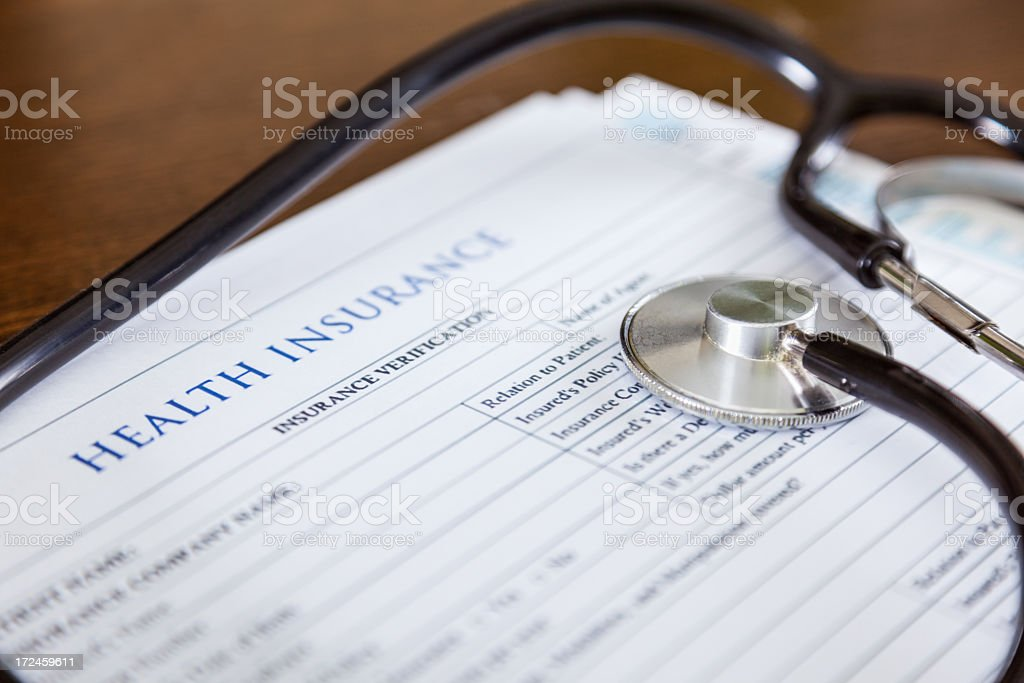 Health Insurance Forms stock photo