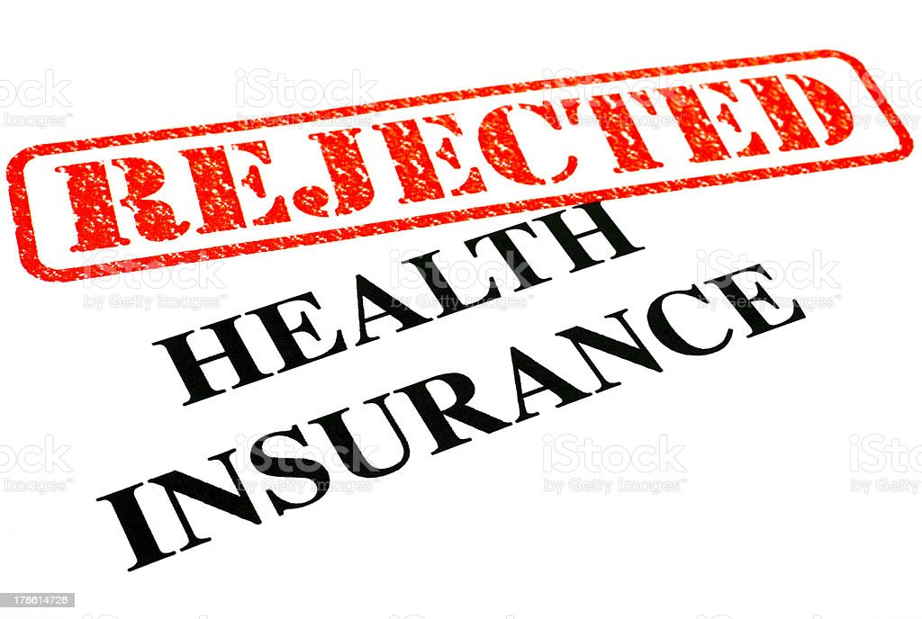 Health Insurance REJECTED stock photo