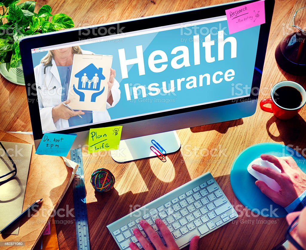 Health Insurance Safety Healthcare Protection Office Working Con stock photo
