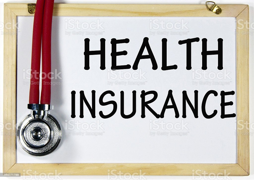 health insurance sign stock photo