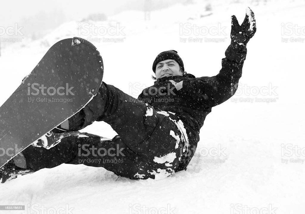 health lifestyle image of snowboarder stock photo