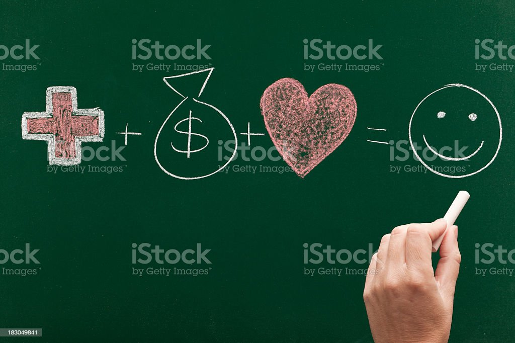 health money and love for a successful life royalty-free stock photo