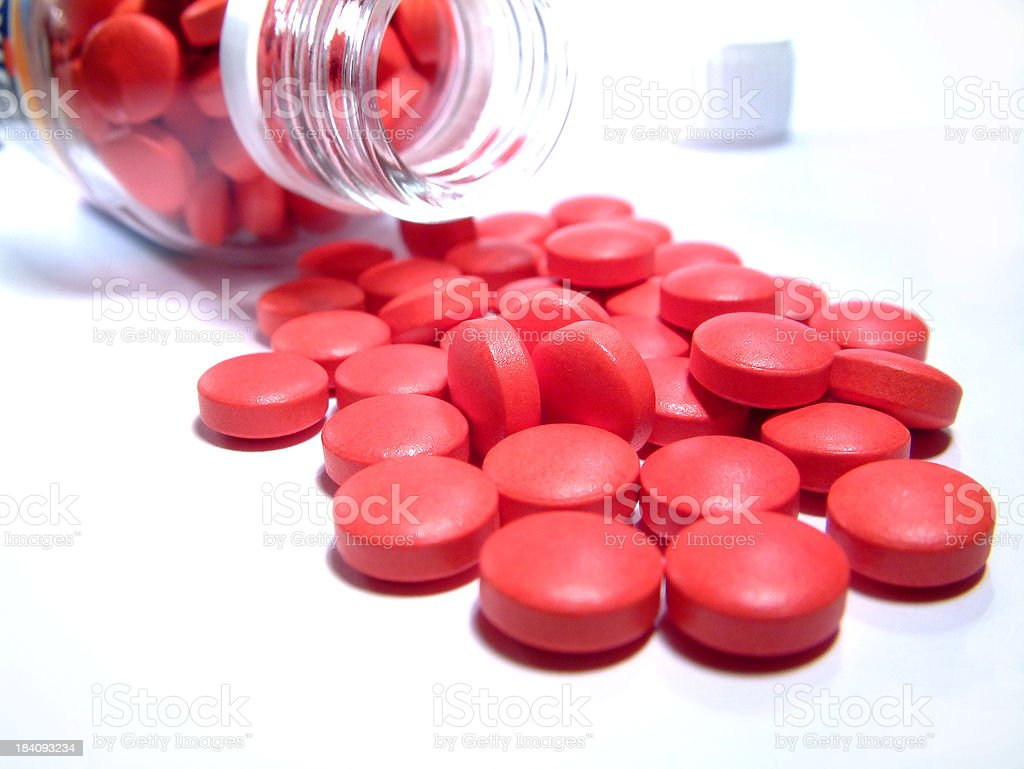 Health - red vitamines royalty-free stock photo