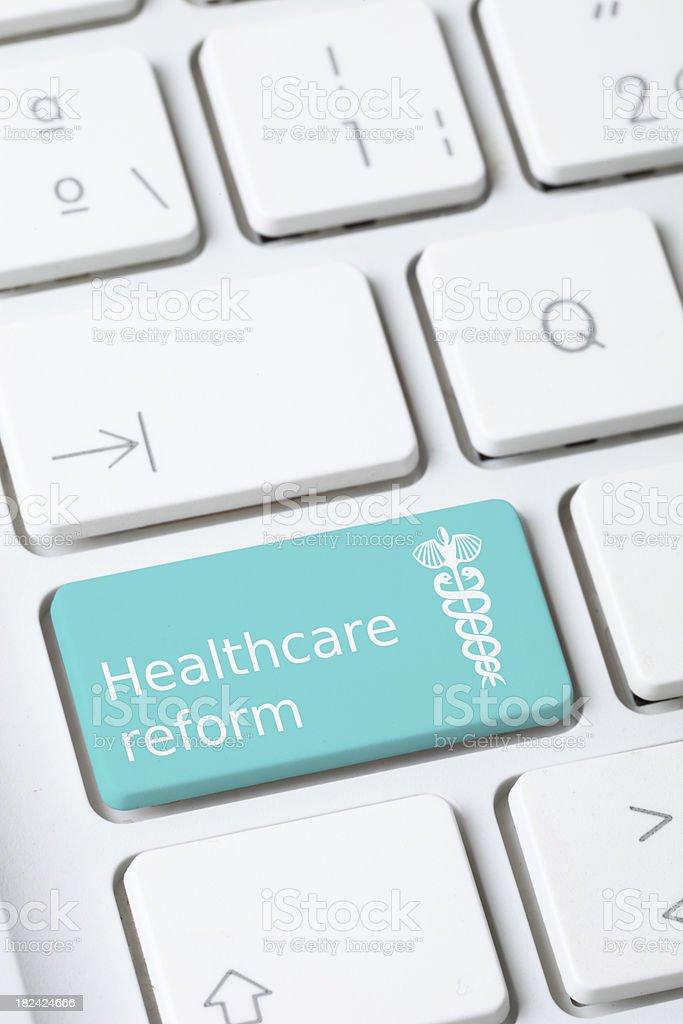 Health reform key stock photo