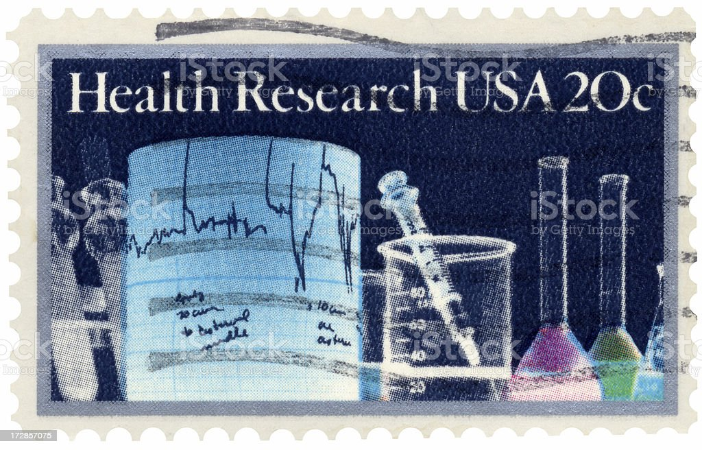 Health Research Stamp royalty-free stock photo