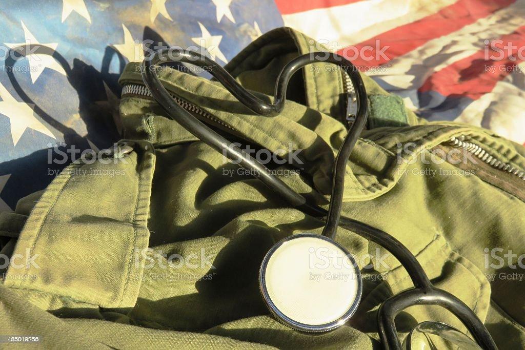 Health Rights-  Veterans stock photo