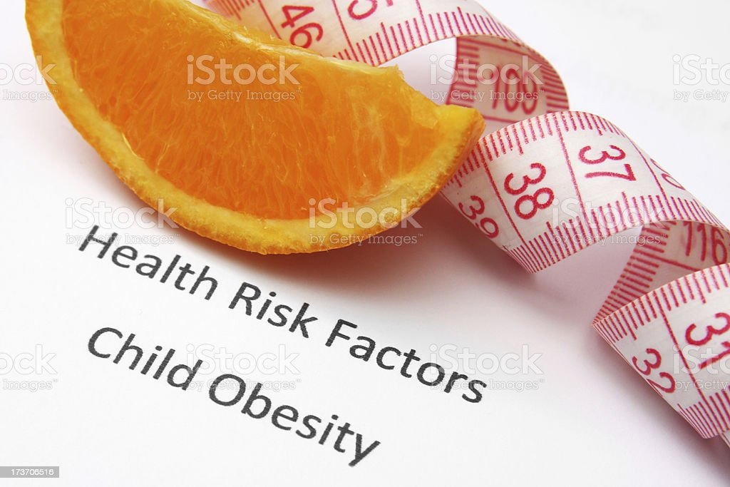 Health risk factors - child obesity royalty-free stock photo