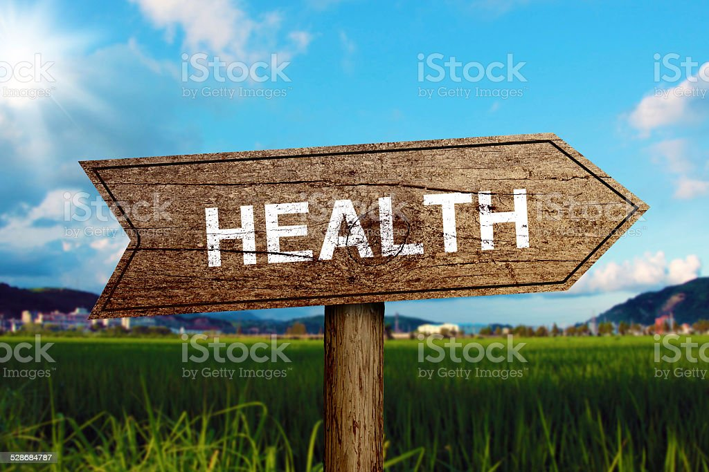 Health Road Sign stock photo