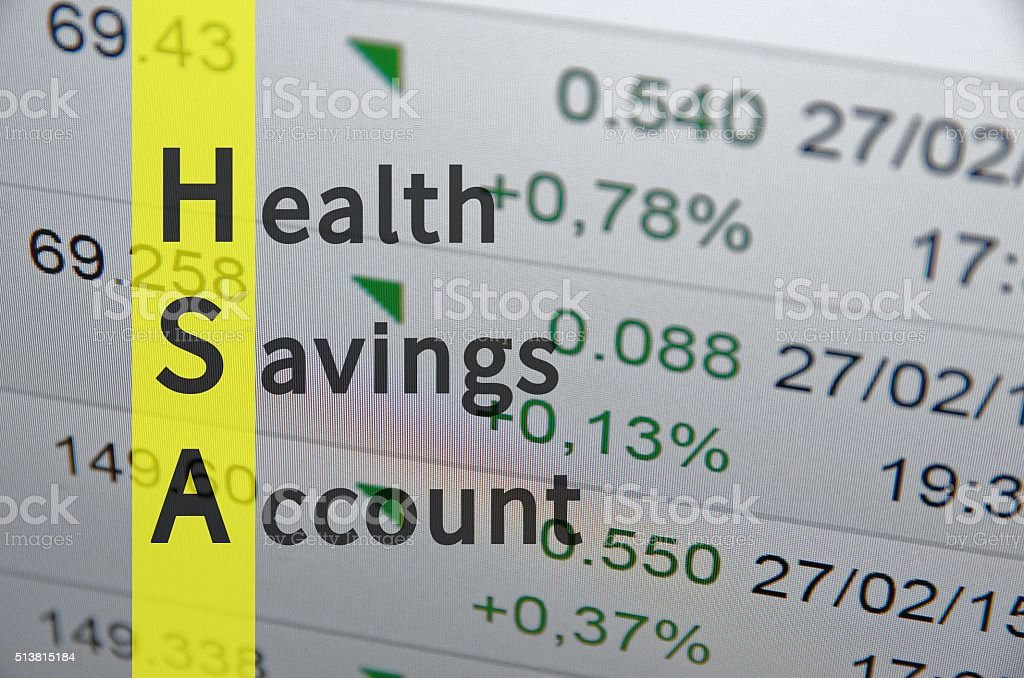 Health savings account stock photo