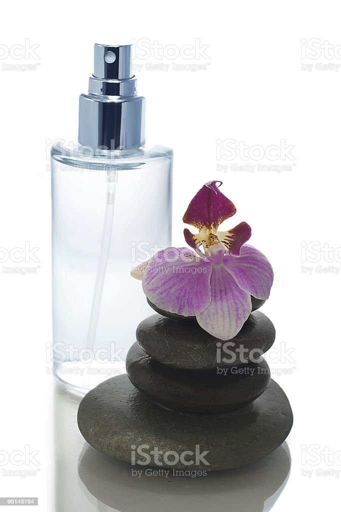 Health spa and flower royalty-free stock photo