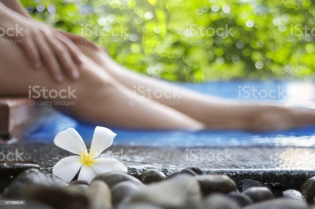 Health Spa treatment focus on legs royalty-free stock photo