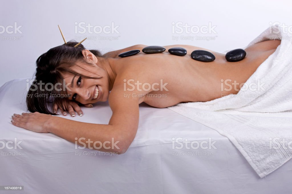 Health Spa with Stones royalty-free stock photo