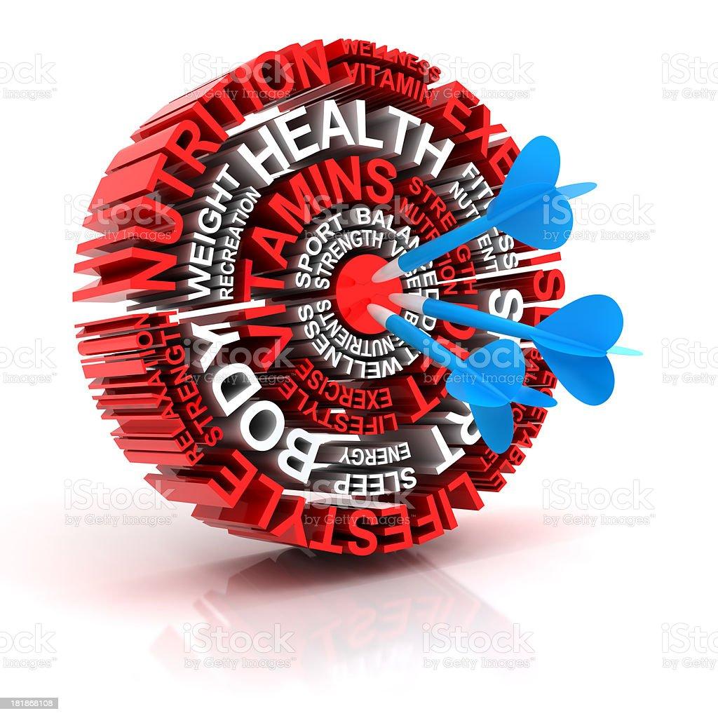 Health target, 3d render royalty-free stock photo