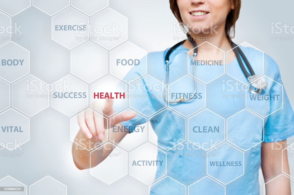 Health tousg screen (Click for more) stock photo