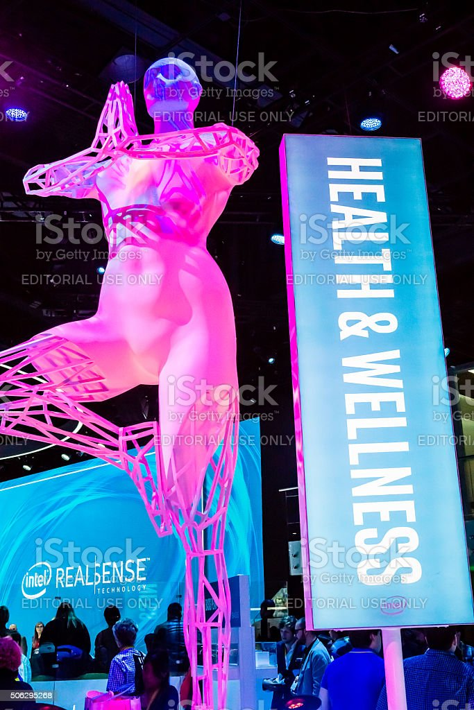Health & Wellness at CES 2016 stock photo