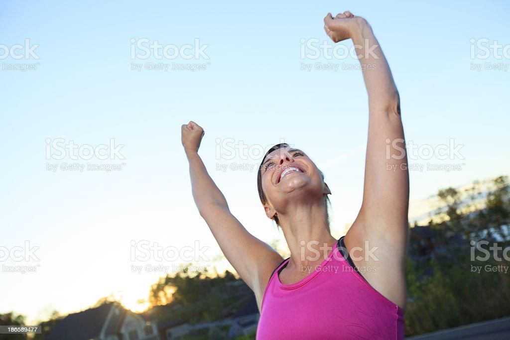 Health Woman - Athlete Jogging Success royalty-free stock photo