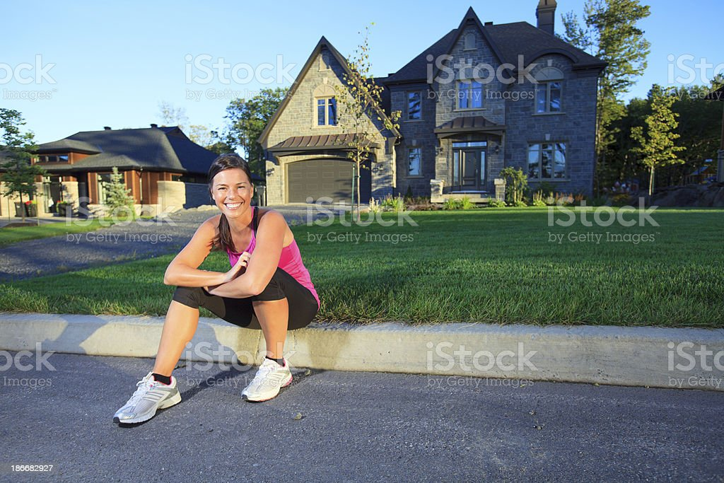 Health Woman - Sport Happy royalty-free stock photo