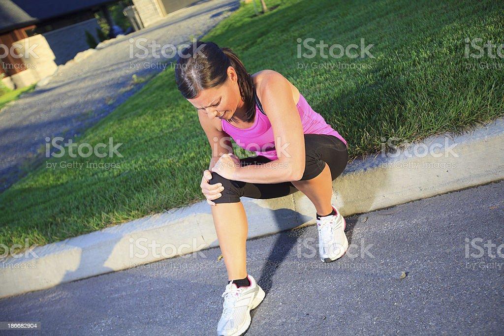 Health Woman - Sport Knees Problem royalty-free stock photo