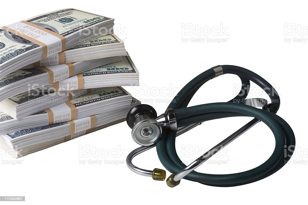 Healthare cost concept shot royalty-free stock photo