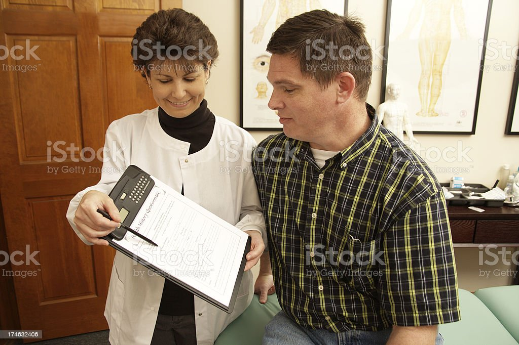 Healthcare Acupuncture Hand royalty-free stock photo