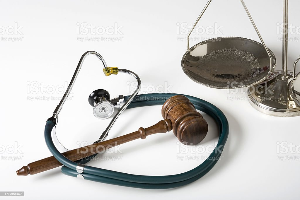 Healthcare and justice system stock photo