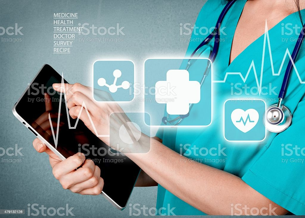 Healthcare And Medicine, Doctor, Medical Exam stock photo