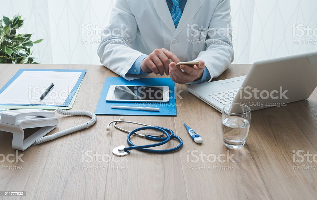 Healthcare and technology stock photo