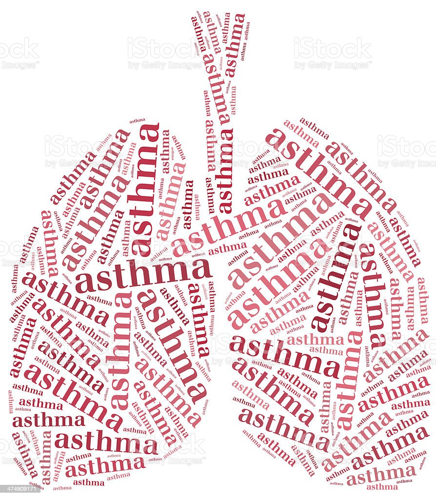 Healthcare concept of respiratory system disease. stock photo