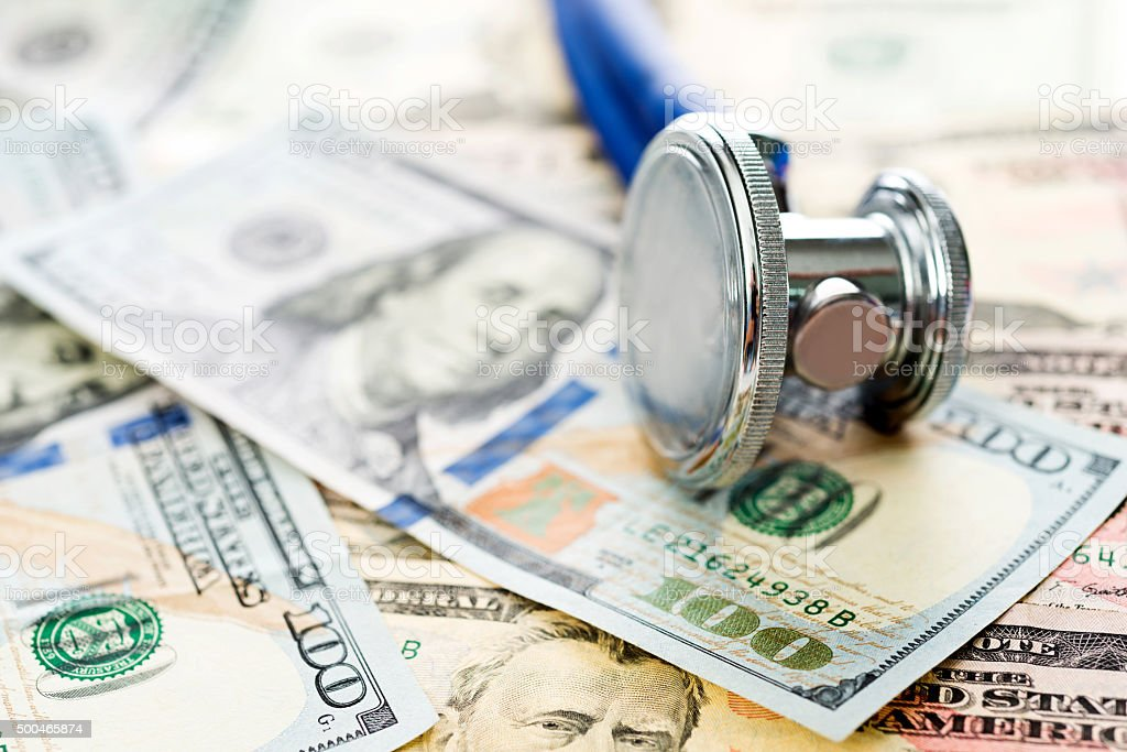 Healthcare costs concept stock photo