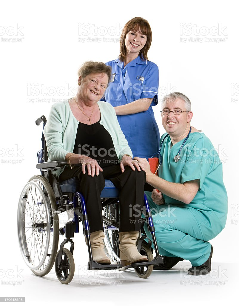 healthcare: doctor, patient and nurse royalty-free stock photo