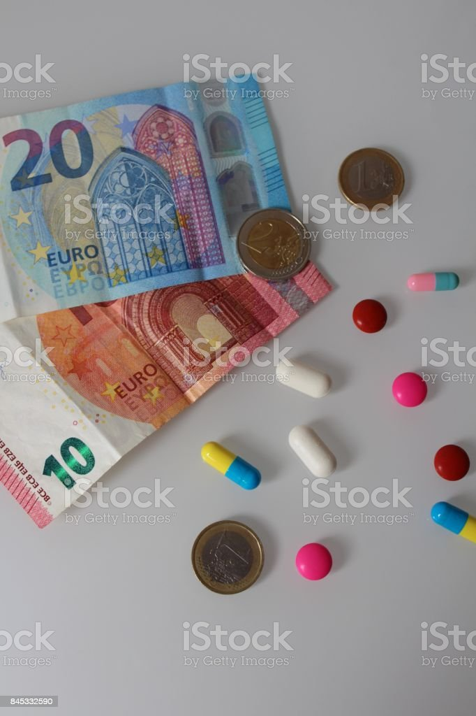 Medicine and euro currency